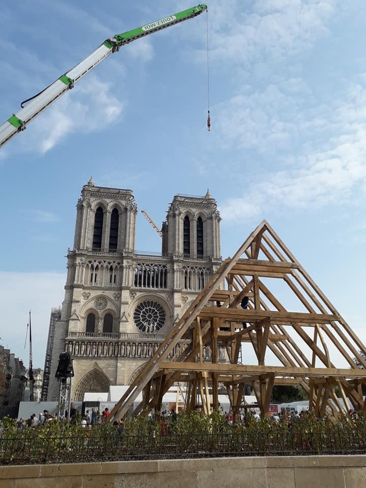 Notre Dame de Paris, l'art de la charpente